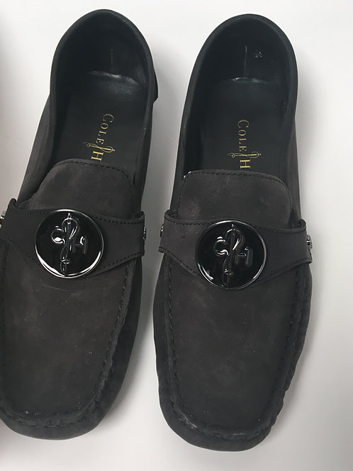 Cole Haan Black Suede Shelby Loafers 7.5B NEW