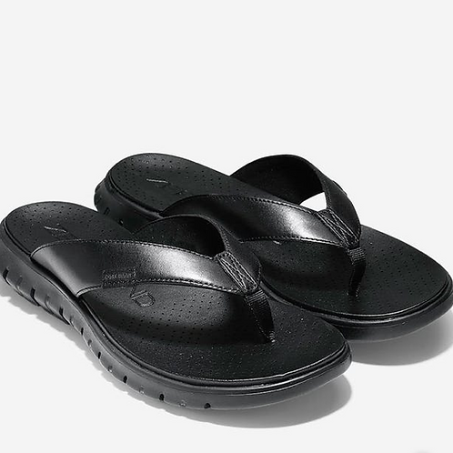 NEW Cole Haan Zeroground Thong Sandal in Black Hive Size 7.5B