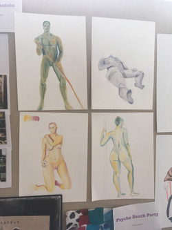 live figure drawing water color