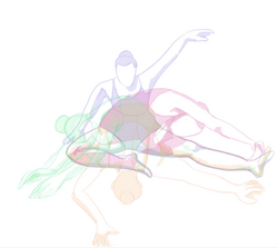 digital movement in figure drawing study