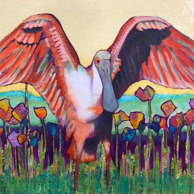 The Spoonbill's Garden Serenade