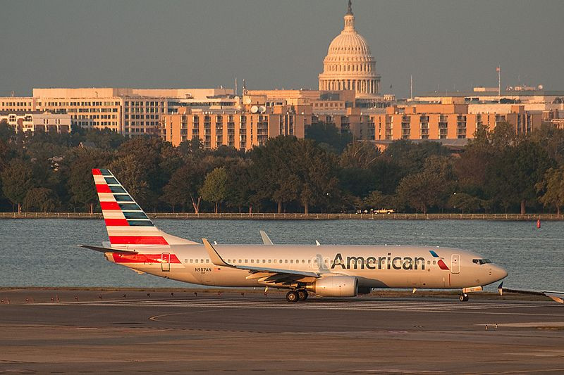 American Airlines alcohol Wwashington DC Estados Unidos