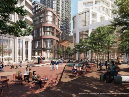 This is what the mixed - use community replacing Toronto's Galleria Mall will look like