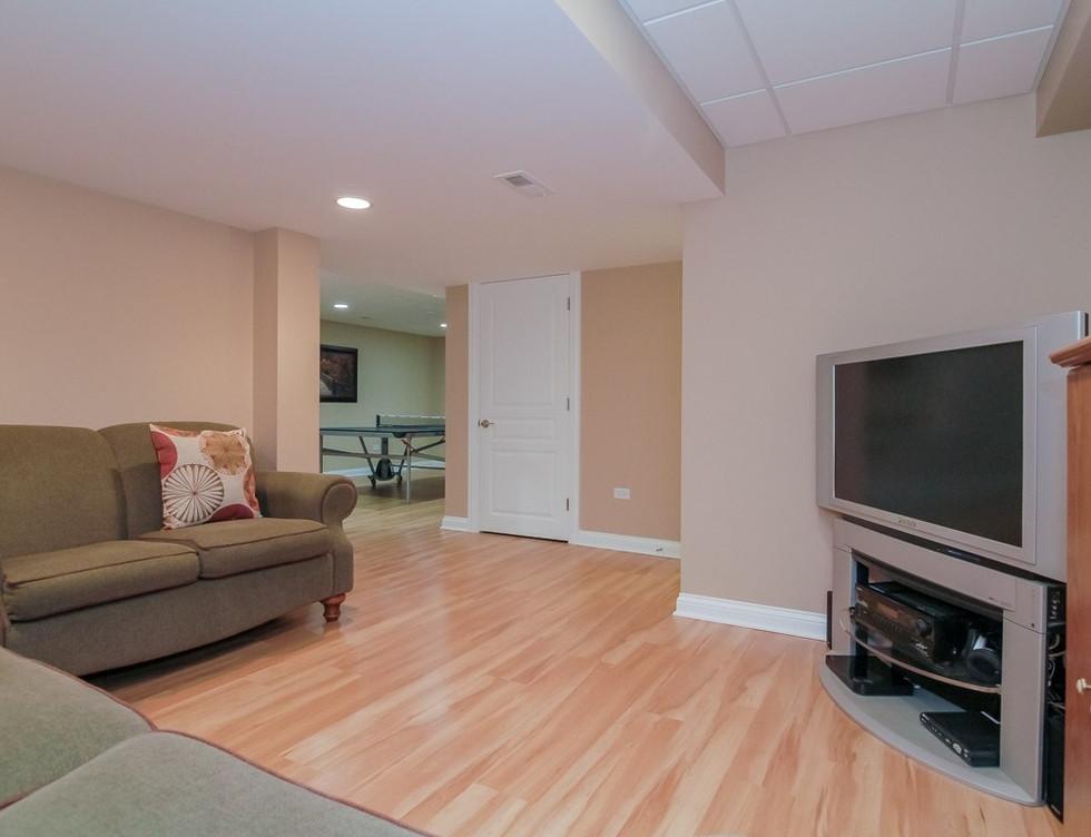 Basement TV Room - Bridgeport, CT