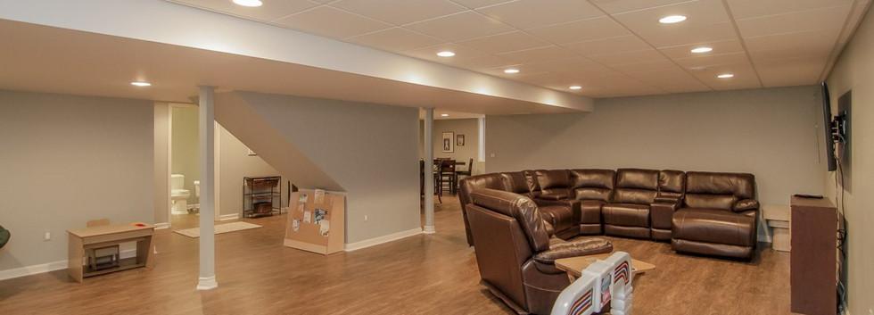 Basement TV Room + Open Space - Easton, CT