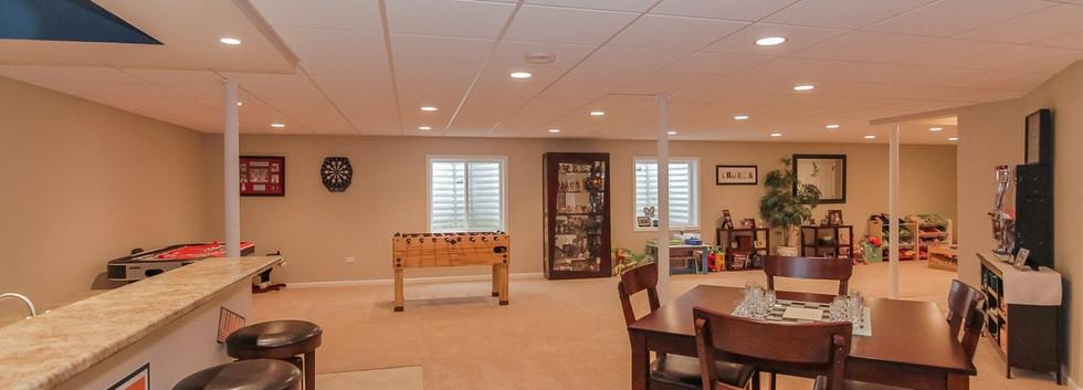Basement TV Room + Play Room - Westport, CT