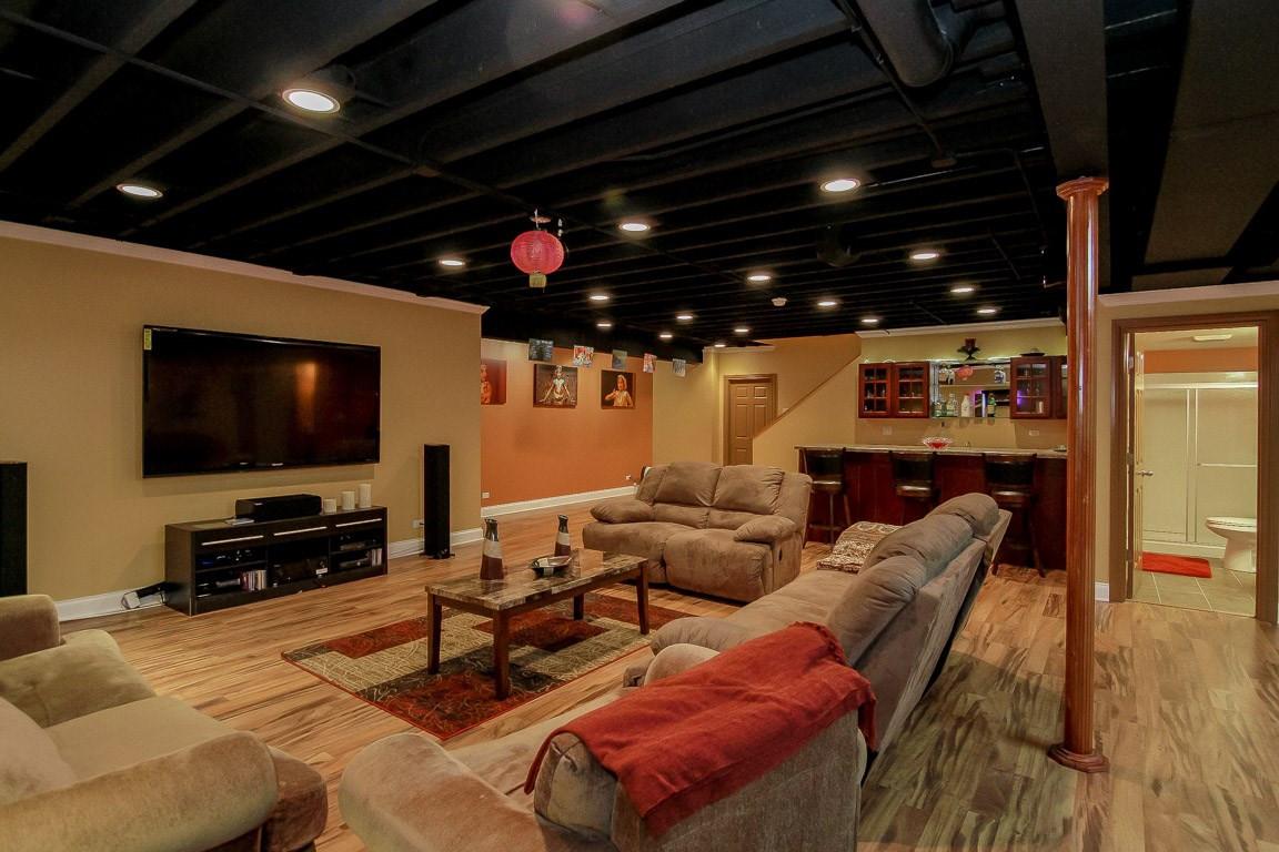 Basement TV Room + Kitchen - Redding, CT