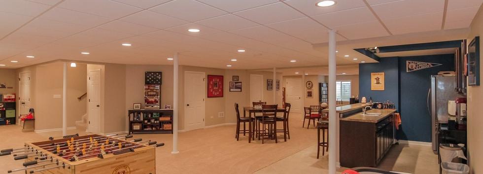 Basement Play Room + Kitchen - Westport, CT