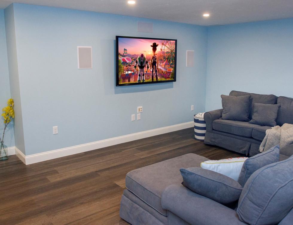 TV Room Basement - Rye, NY