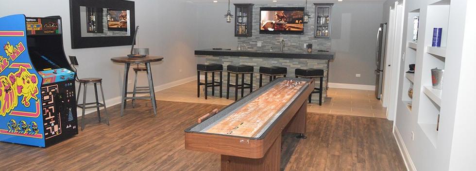 Basement Open Space + Kitchen - Wilton, CT