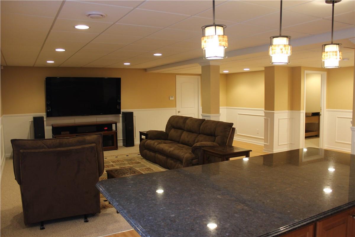 Basement TV Room + Countertop - Norwalk, CT