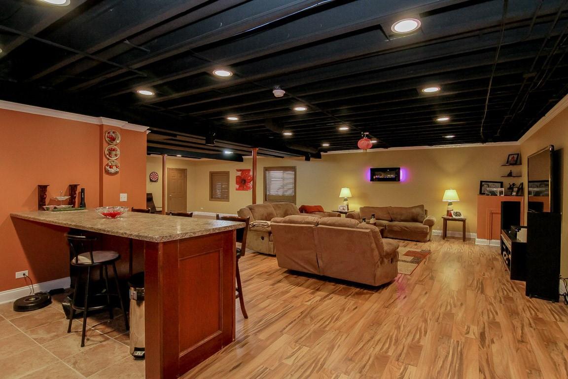 Basement Countertop + TV Room - Redding, CT