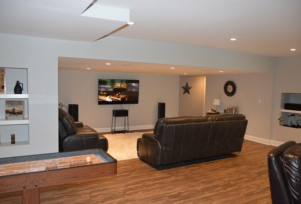 Basement TV Room - Wilton, CT