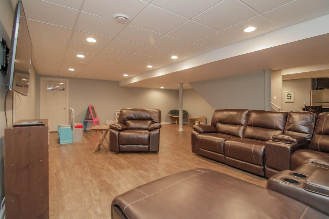 Basement TV Room - Easton, CT