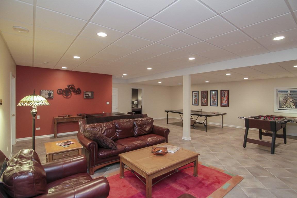 Basement TV Room + Social Area - Fairfield, CT