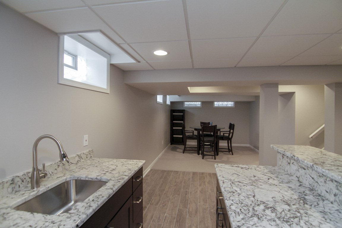 Basement Kitchen + Social Area - Newtown, CT