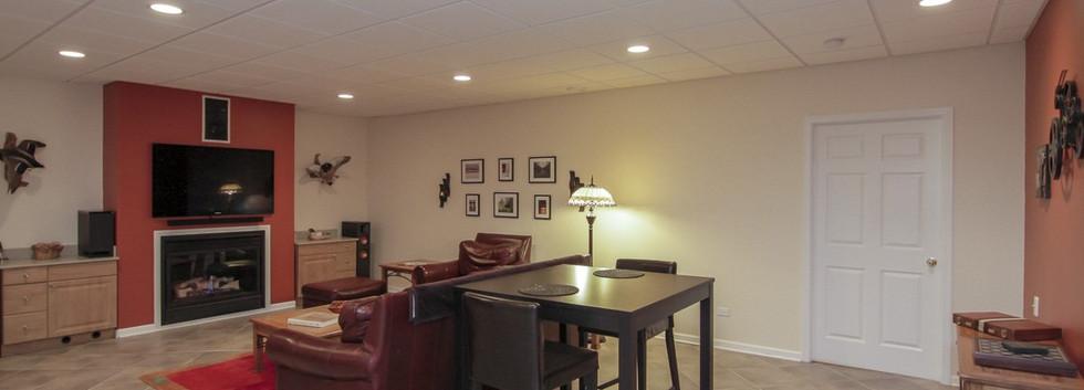 Basement TV Room - Fairfield, CT