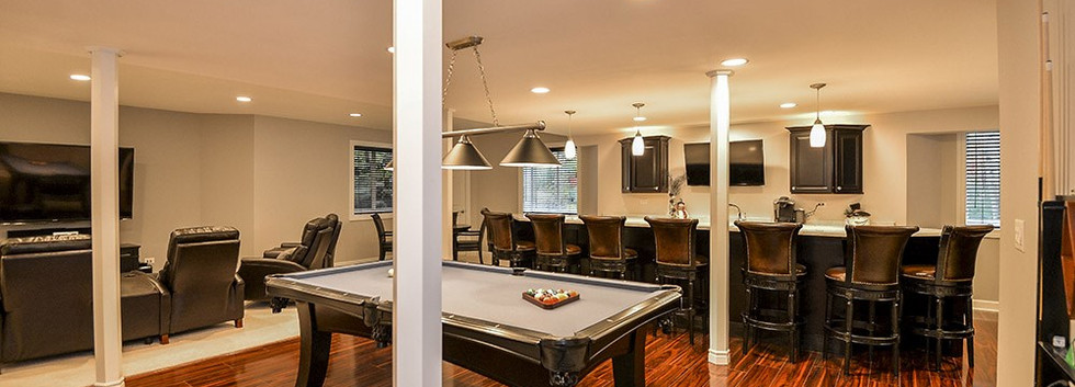 Basement Pool table + Kitchen - New Canaan, CT