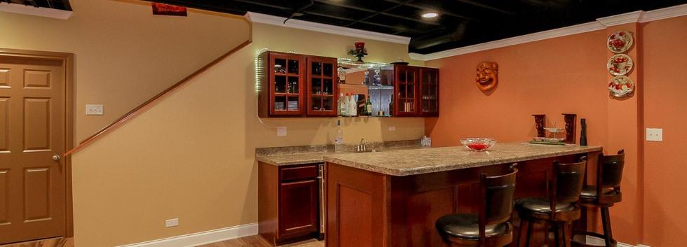 Basement Kitchen + Stairs - Redding, CT