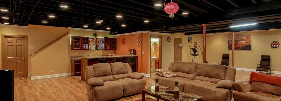 Basement TV Room - Redding, CT
