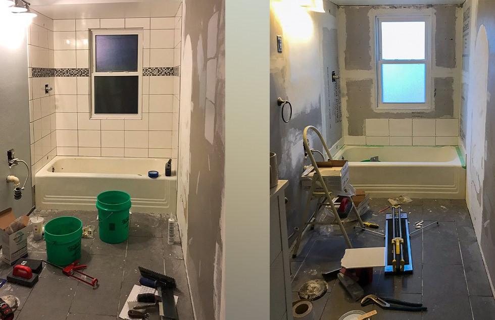 Bathroom Remodeling - DURING
