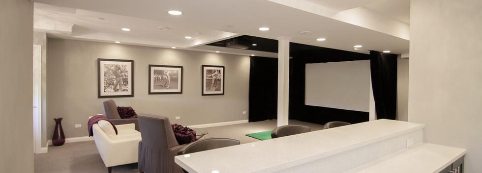Basement Projector Room + Kitchen - Greenwich, CT