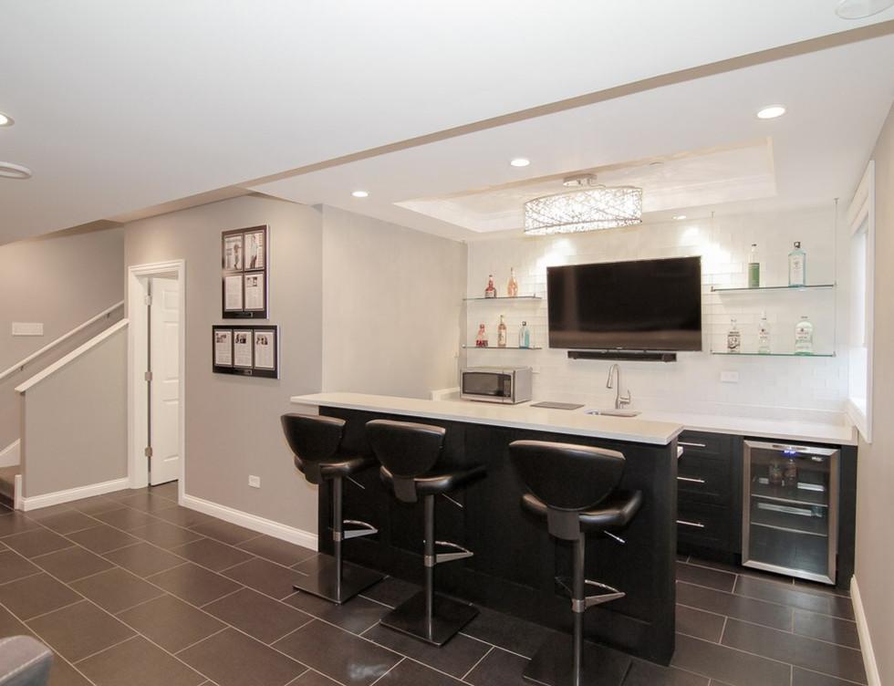 Basement Stairs Entrance + Kitchen - Greenwich, CT