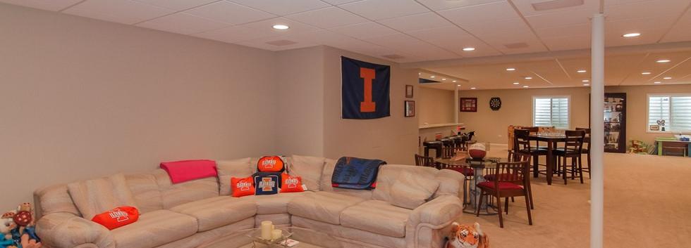 Basement TV Room - Westport, CT