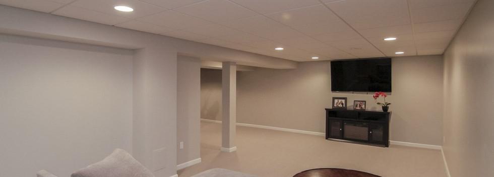 Basement TV Room - Newtown, CT