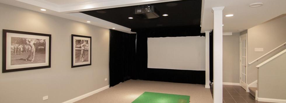 Basement Projector Room - Greenwich, CT