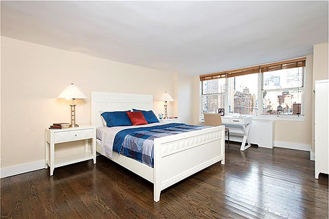 Midtown Manhattan Apartment - Master Bedroom Room. Staged to Sell. Douglas Elliman agent Iman Barkhordari.
