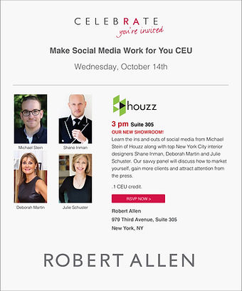Robert Allen & Houzz Panel Discussion: Make Social Media Work For You