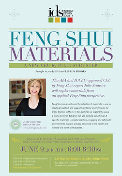 Feng Shui Materials with Julie Schuster