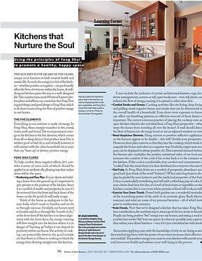 Kitchen & Bath Business: Feng Shui Kitchens