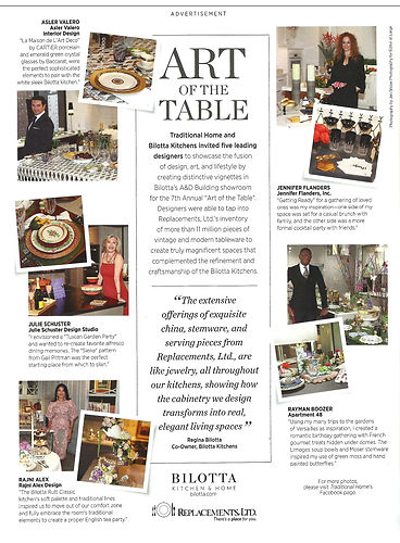 Julie Schuster & Bilotta Kitchen's Art of the Table