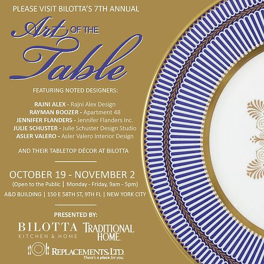 Bilotta Art of the Table with Julie Schuster Design Studio