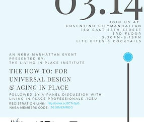 The how to: fo universal design & aging in place