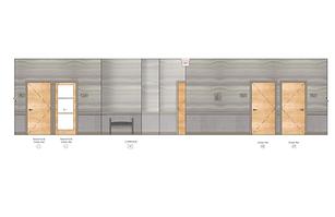Julie Schuster Design Studio medical office design - Rendering: Hallway