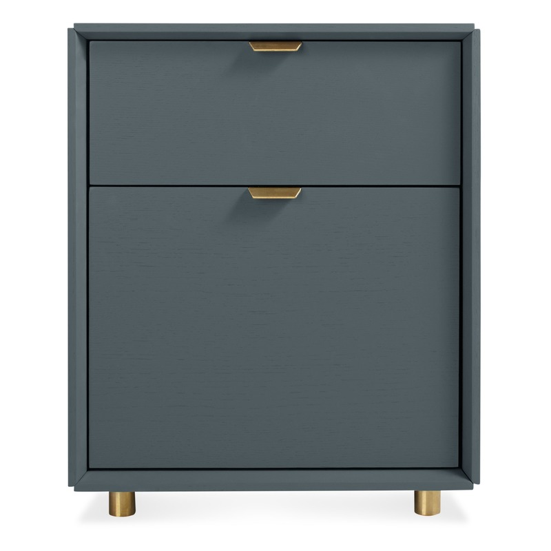 Gray & Brass File Cabinet