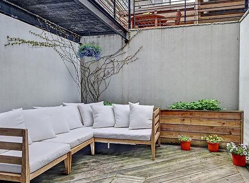 Julie Schuster Design Studio - Staged For Sale: Park Slope Condo Patio