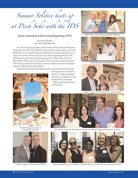 HOUSE Magazine features IDS New York Chapter Summer Solstice