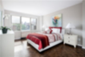 Julie Schuster Design Studio - Staged For Sale: Sleek Contemporary - Master Bedroom