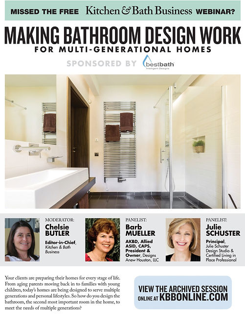 julie schuster bathroom webinar