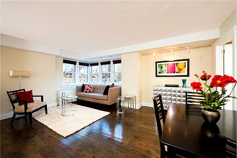 Midtown Manhattan Apartment - Great Room. Staged to Sell. Douglas Elliman agent Iman Barkhordari.