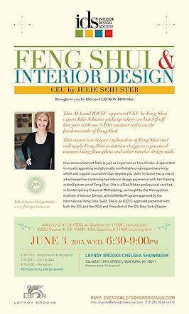 IDS presents Julie Schuster presentation on Feng Shui & Interior Design at Lefroy Brooks Showroom