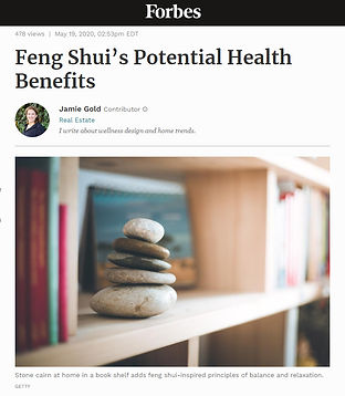 Forbes Feng Shui Potential Health Benefits with Julie Schuster