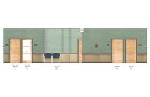 medical office design - Rendering: Hallway