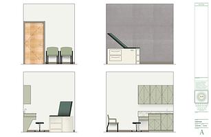 Julie Schuster Design Studio medical office design - Rendering: Exam Room