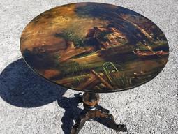Painted Tilt Top Table