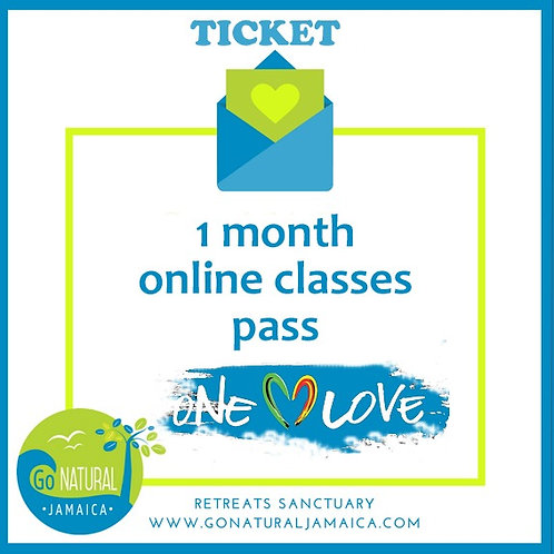 1 month unlimited online yoga classes